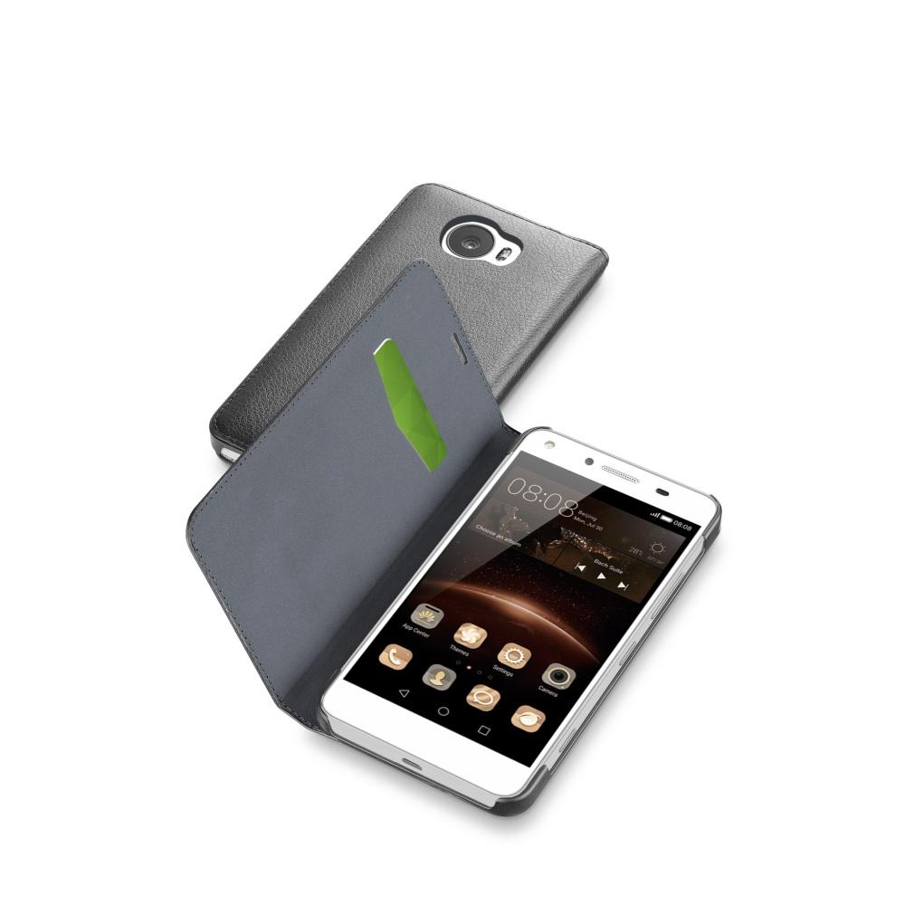 CellularLine Book Essential pouzdro flip Huawei Y5 II /Y5 Pro černé