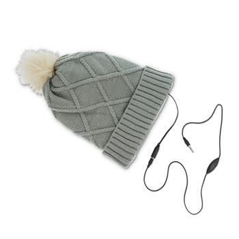 Zimní čepice se sluchátky Forever Bobble šedá
