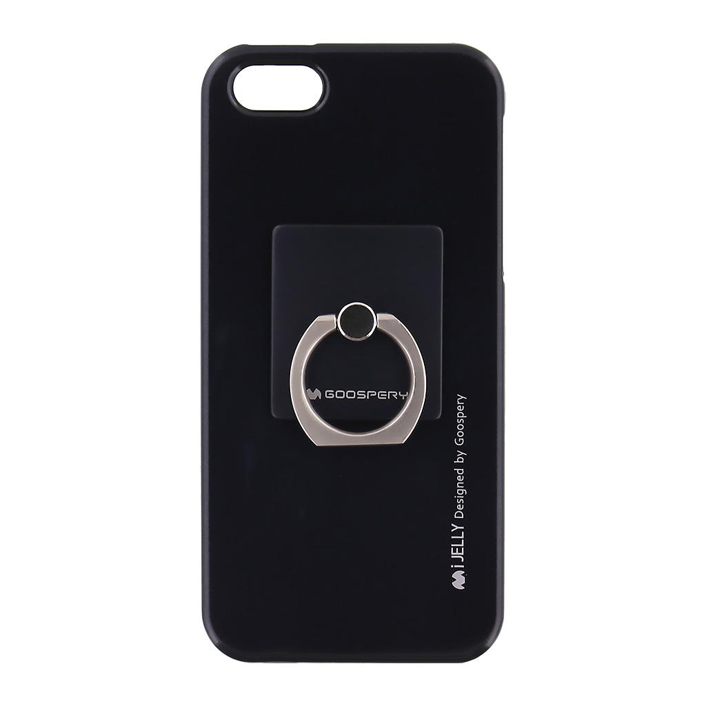Mercury i-Jelly Ring silikonové pouzdro pro Apple iPhone 5/5S/SE Black