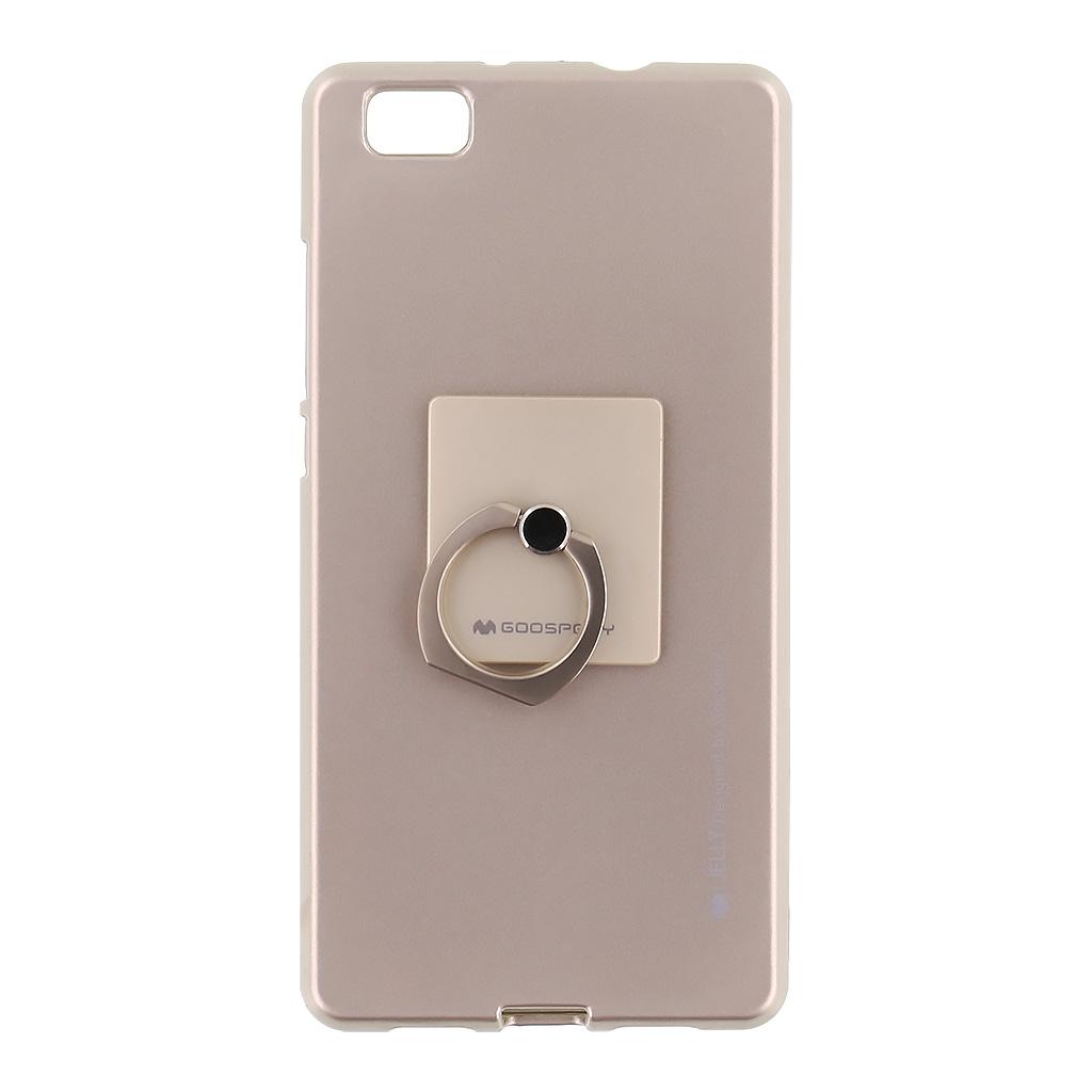 Mercury i-Jelly Ring silikonové pouzdro pro Huawei P8 Lite Gold