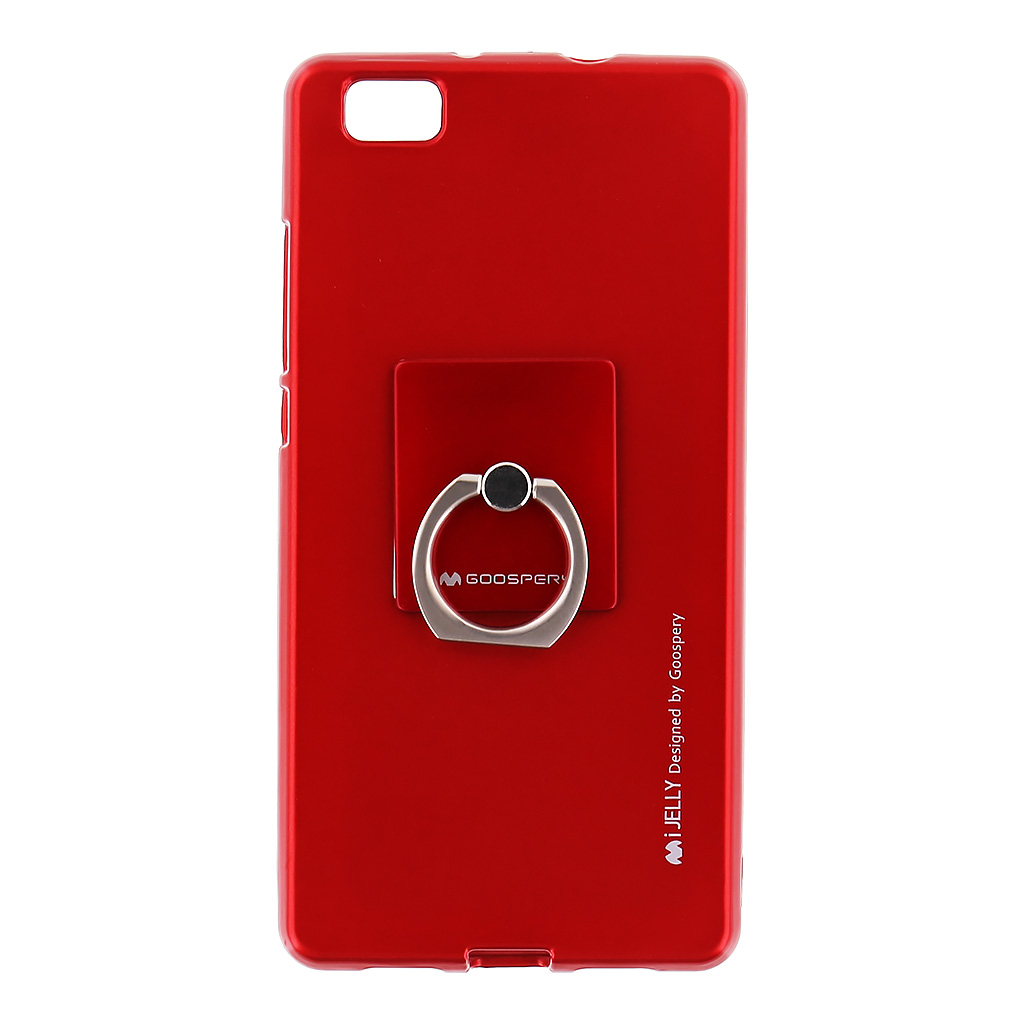 Mercury i-Jelly Ring silikonové pouzdro pro Huawei P8 Lite Red