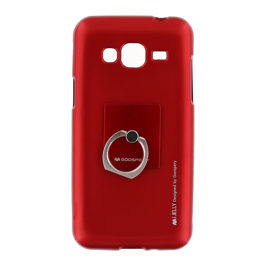 Mercury i-Jelly Ring silikonové pouzdro pro Samsung J320 Galaxy J3 2016 Red