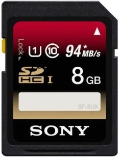 Paměťová SD karta Sony SF8UX 8GB class 10