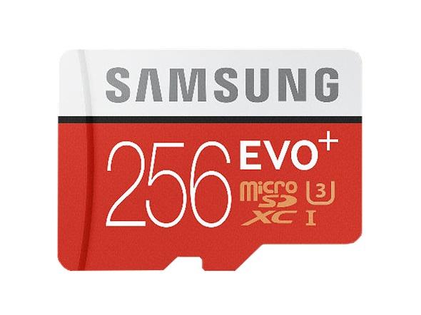Paměťová Micro SD karta Samsung EVO Plus 256GB + SD adaptér