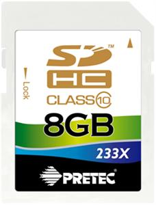 Paměťová SD karta Pretec 8GB class 10
