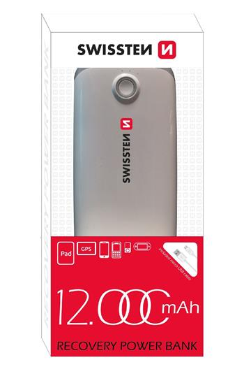 POWER BANK SWISSTEN RECOVERY 12000 mAh