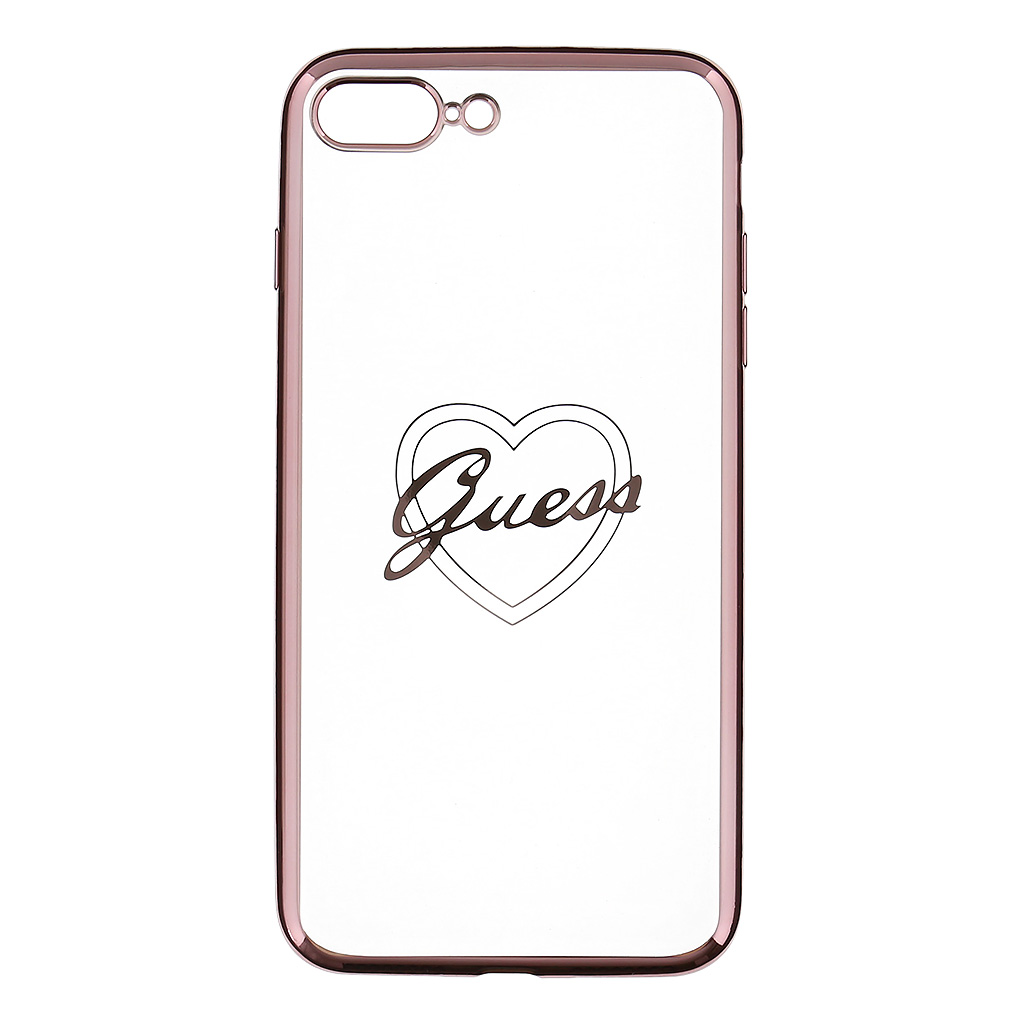 Guess Heart GUHCP7LTRHRG TPU Pouzdro pro Apple iPhone 7 Plus Rose Gold