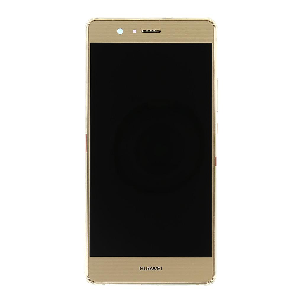 LCD displej + dotyk. deska + př. kryt pro Huawei P9 Lite, zlatý