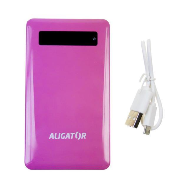 Aligator Powerbank slim 4000mAh Pink