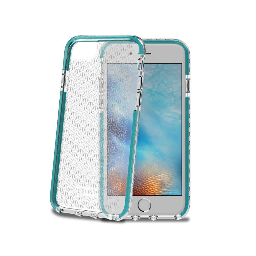 Zadní kryt Celly Hexagon pro Apple iPhone 7 Turquoise