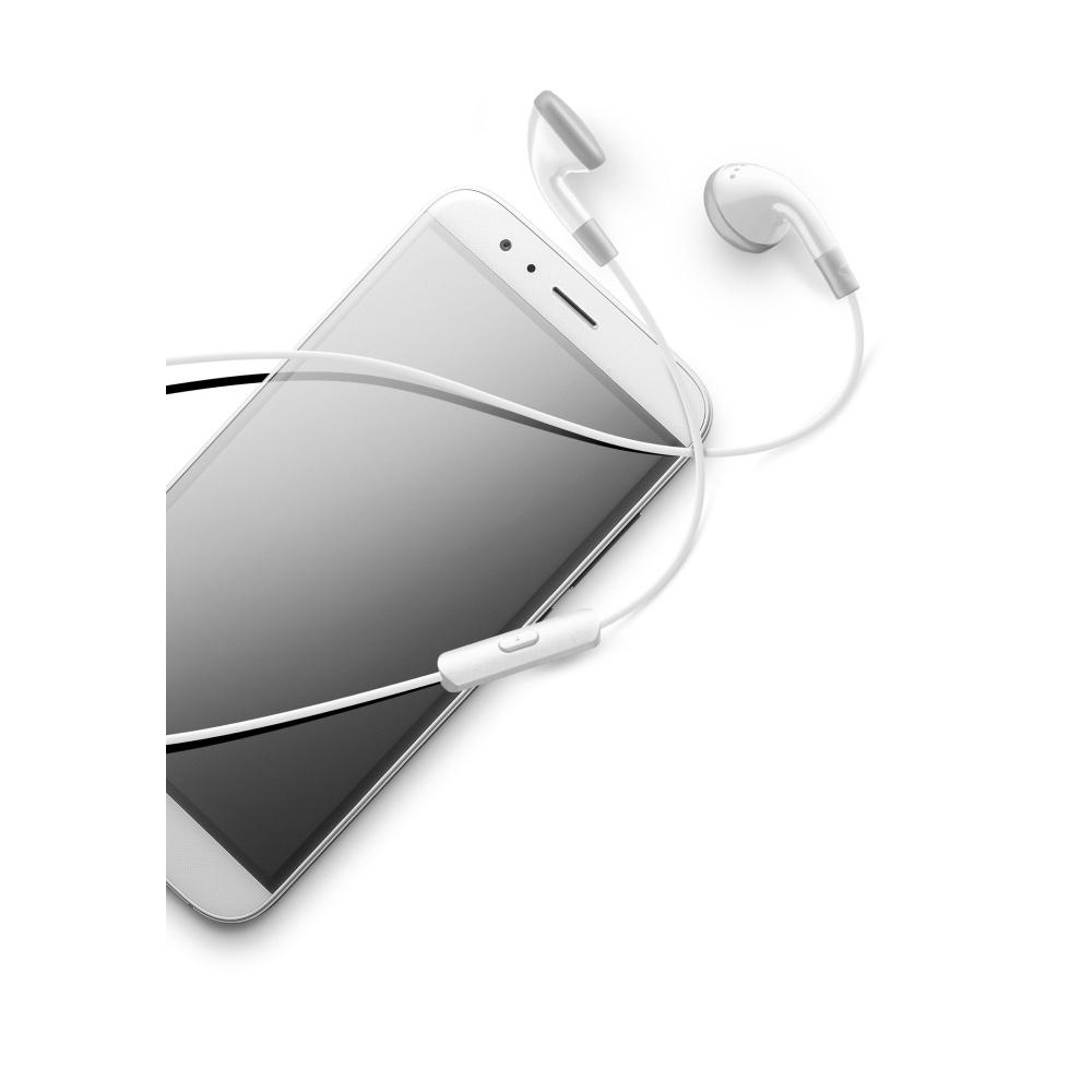Univerzální mono sluchátka Cellularline CLASSIC White