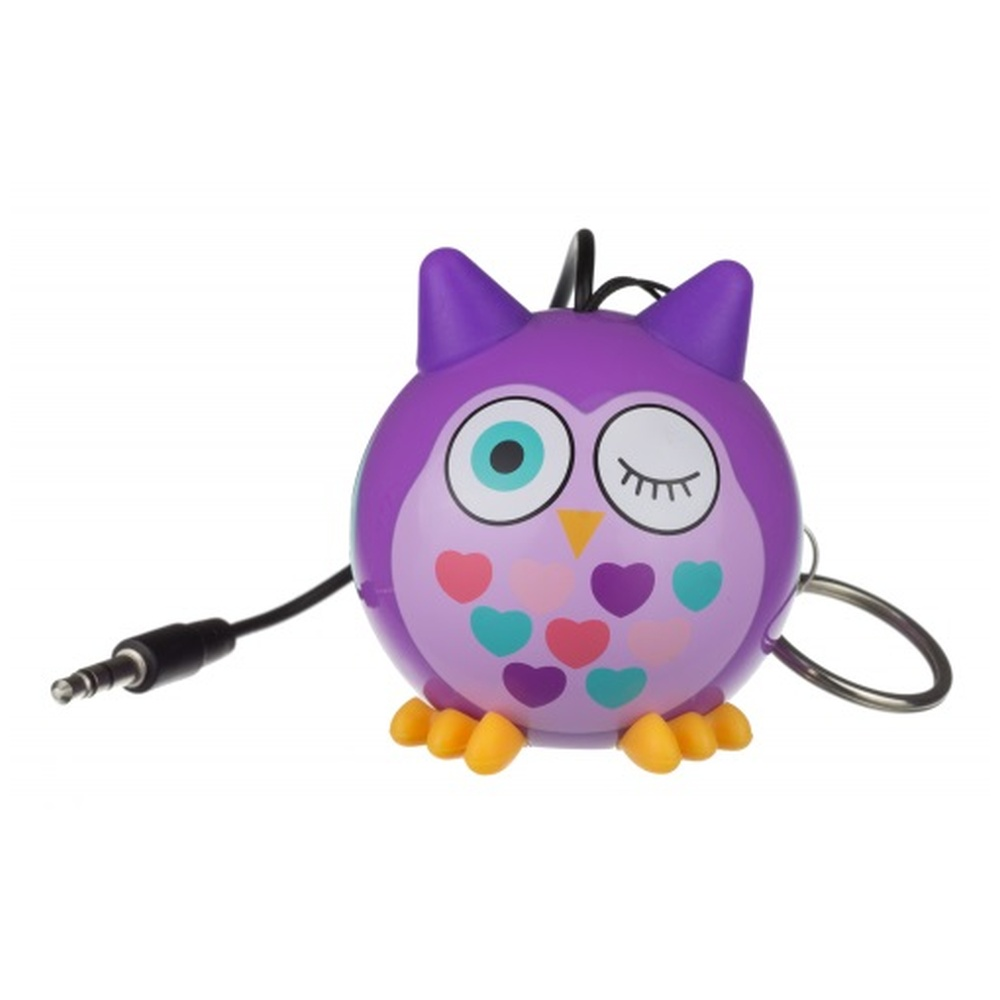Reproduktor KITSOUND Mini Buddy OWL PURPLE, 3,5 mm jack