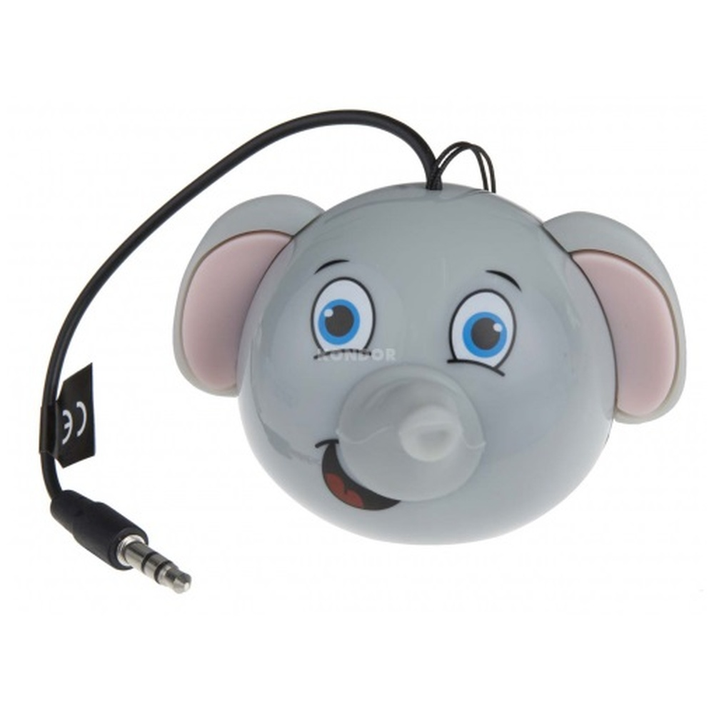 Reproduktor KITSOUND Mini Buddy ELEPHANT, 3,5 mm jack