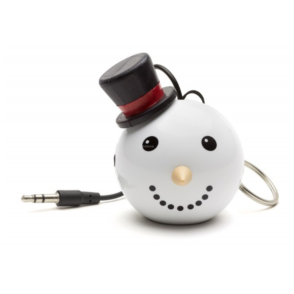 Reproduktor KITSOUND Mini Buddy SNOWMAN, 3,5 mm jack