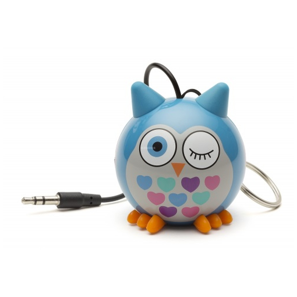 Reproduktor KITSOUND Mini Buddy OWL BLUE, 3,5 mm jack