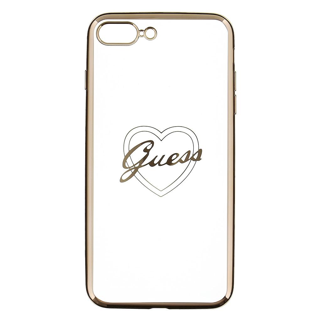 Guess Heart GUHCP7LTRHG TPU Pouzdro pro Apple iPhone 7 Plus Gold