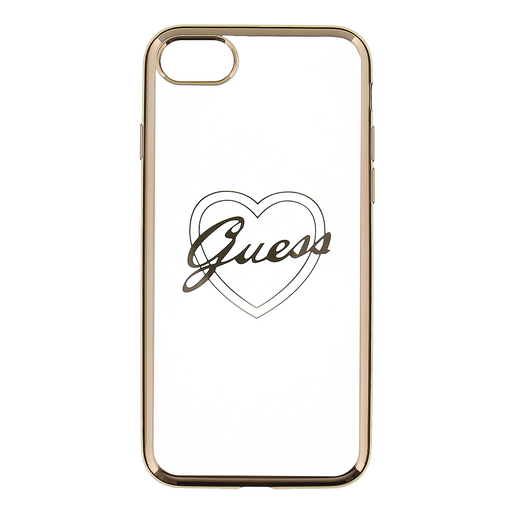Guess Heart GUHCP7TRHG TPU Pouzdro pro Apple iPhone 7 Gold