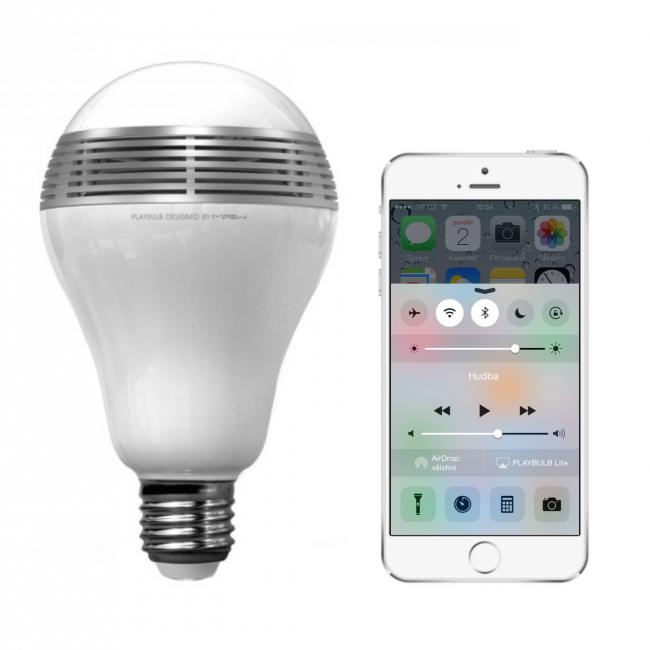 MiPow Playbulb™ Lite LED Bt. hrající žárovka s rep
