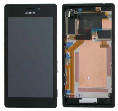 LCD display, dotyková deska a rámeček pro Sony Xperia M2, Black