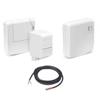 Honeywell Evohome TV - bezdrátový snímač teploty v zásobníku (příložný + ponorný) + spínací jednotka BDR91