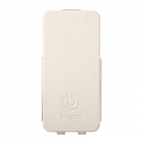 Bugatti Ultra Thin Flip Kožené Pouzdro White pro Samsung i9195 Galaxy S4mini