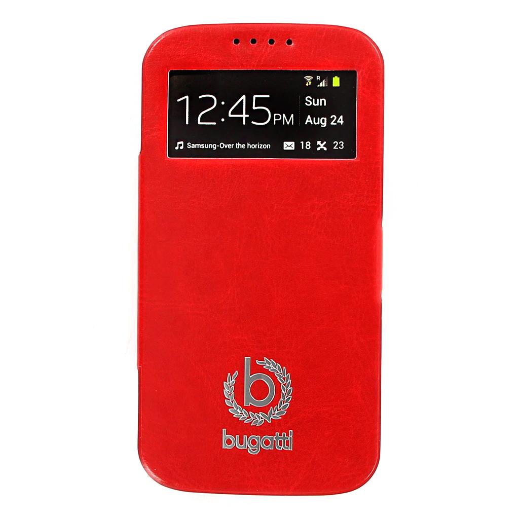 Bugatti Geneva Folio Pouzdro Red pro Samsung i9505 Galaxy S4