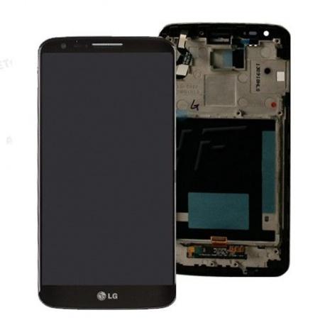 LCD display, dotyková deska a rámeček pro LG G2 (D802) Black