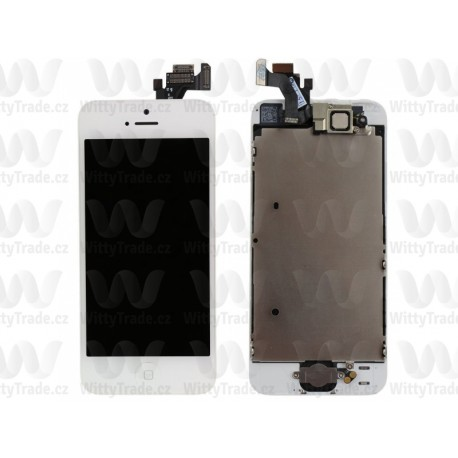 LCD + Touch Full Assembled (with home button) White pro Apple iPhone 5