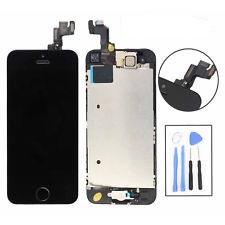 LCD + Touch Full Assembled (without home button) pro Apple iPhone 5S, black
