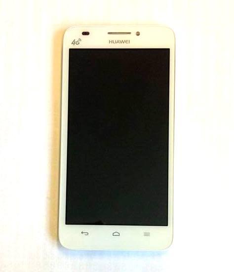 Huawei Ascend G620 LCD Display + Dotyková Deska + Přední Kryt White
