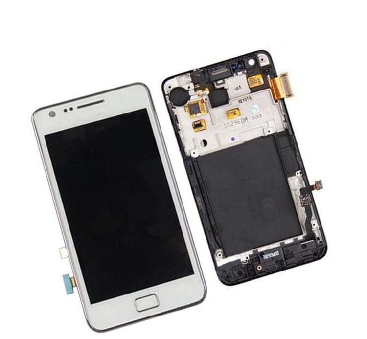 LCD Display + Dotyk + Přední Kryt Samsung i9100 White