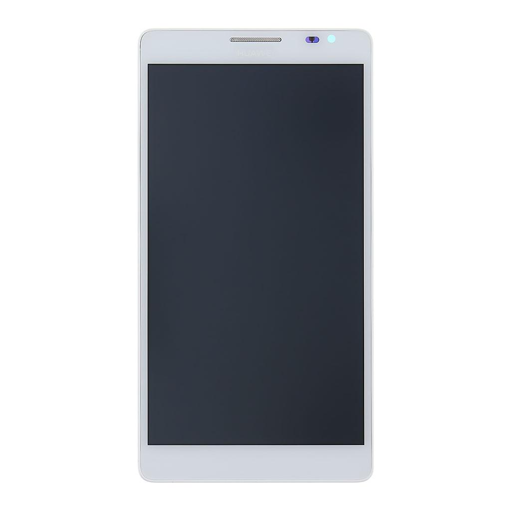 Huawei Ascend P1 LCD Display + Dotyková Deska + Přední Kryt White