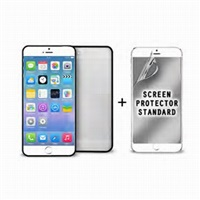 "Puro ochranný rámeček ""Bumper Cover"" pro iPhone 6 Plus s ochrannou fólií, černá"