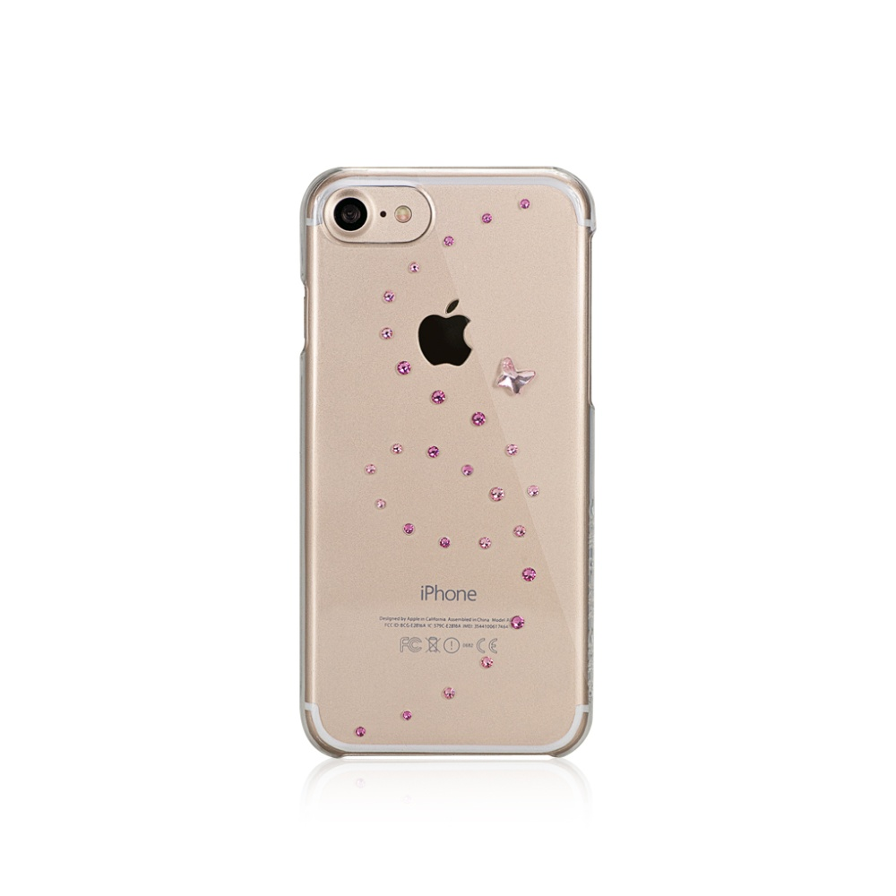Zadní kryt Bling My Thing Papillon Rose Sparkles pro Apple iPhone 7 with Swarovski® crystals