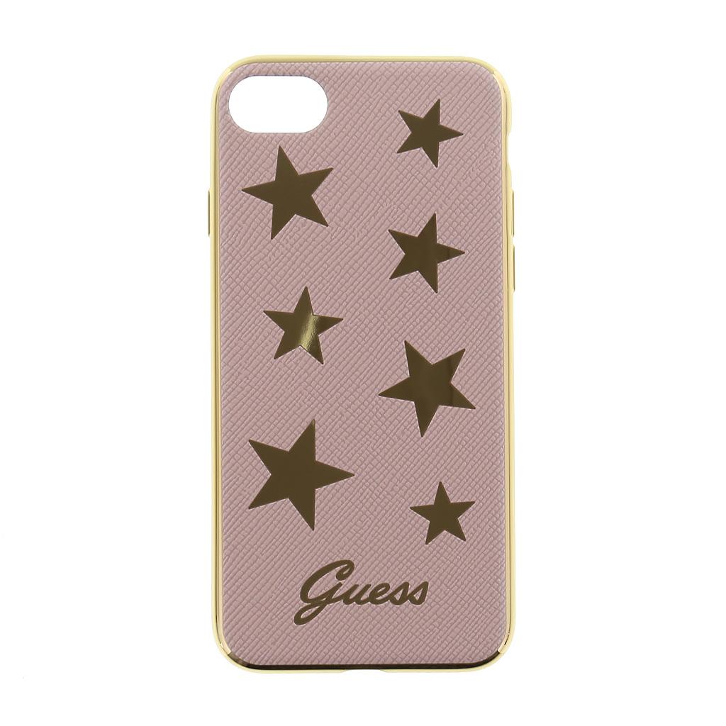 Guess Stars Soft GUHCP7STAPI silokonové pouzdro pro Apple iPhone 7 Pink