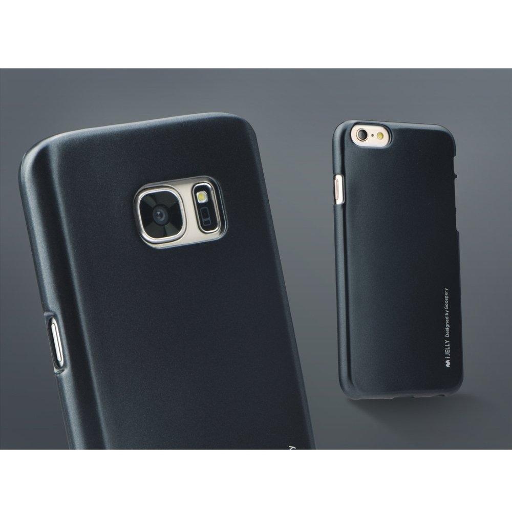 Silikonové pouzdro Mercury i-Jelly METAL pro Samsung Galaxy S6, Black