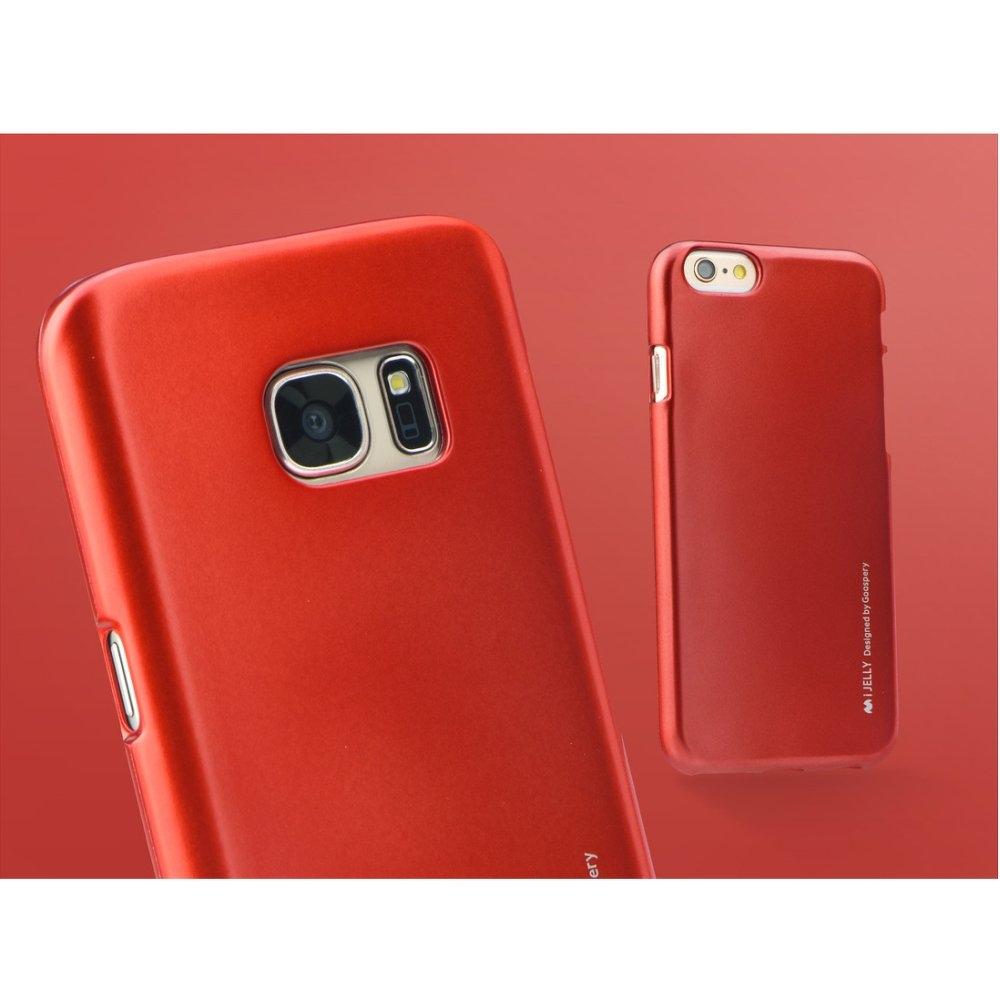 Mercury pouzdro i-Jelly case Samsung G920 S6, Metal Red