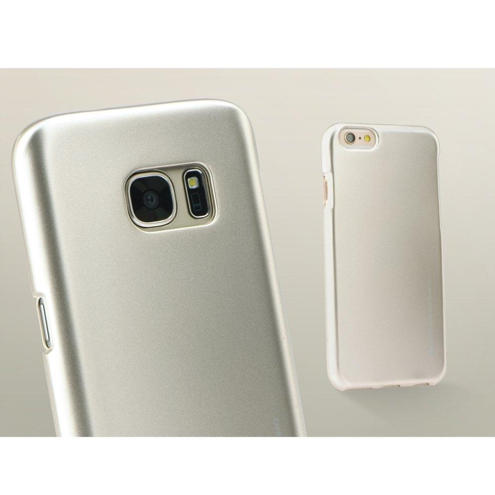 Silikonové pouzdro Mercury i-Jelly METAL pro Samsung Galaxy S6, Gold