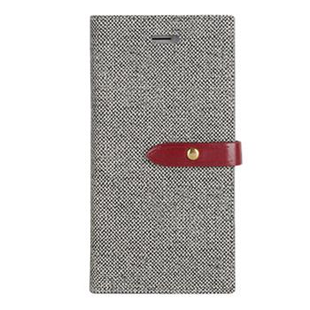 Pouzdro flip Mercury Milano Diary pro Apple iPhone 5/5S/SE, šedo/vínové