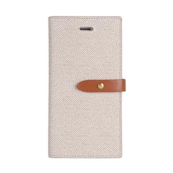 Pouzdro flip Mercury Milano Diary pro Apple iPhone 5/5S/SE, béžovo/hnědé