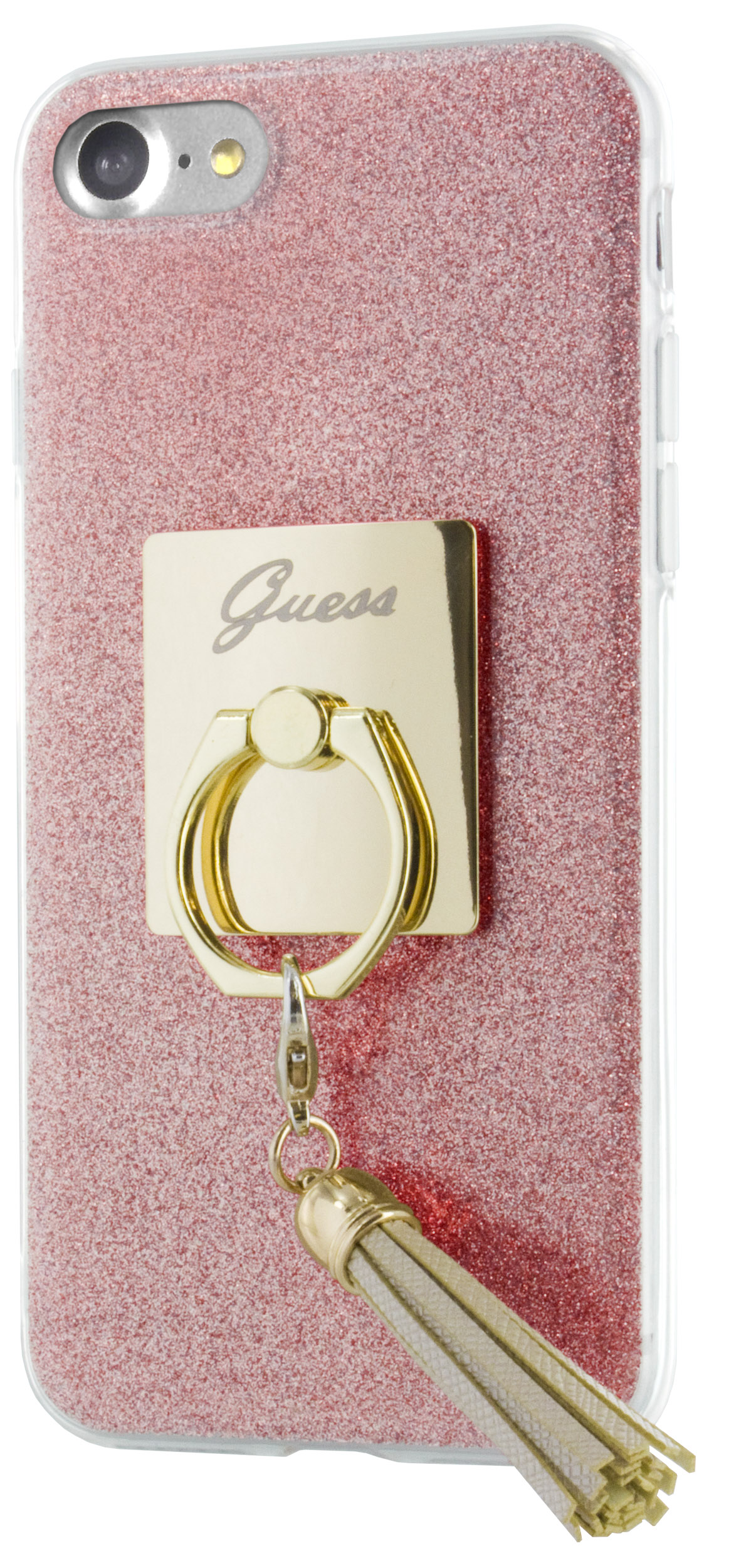 Guess Ring GUHCP7RSRG silikonové pouzdro pro Apple iPhone 7 Pink
