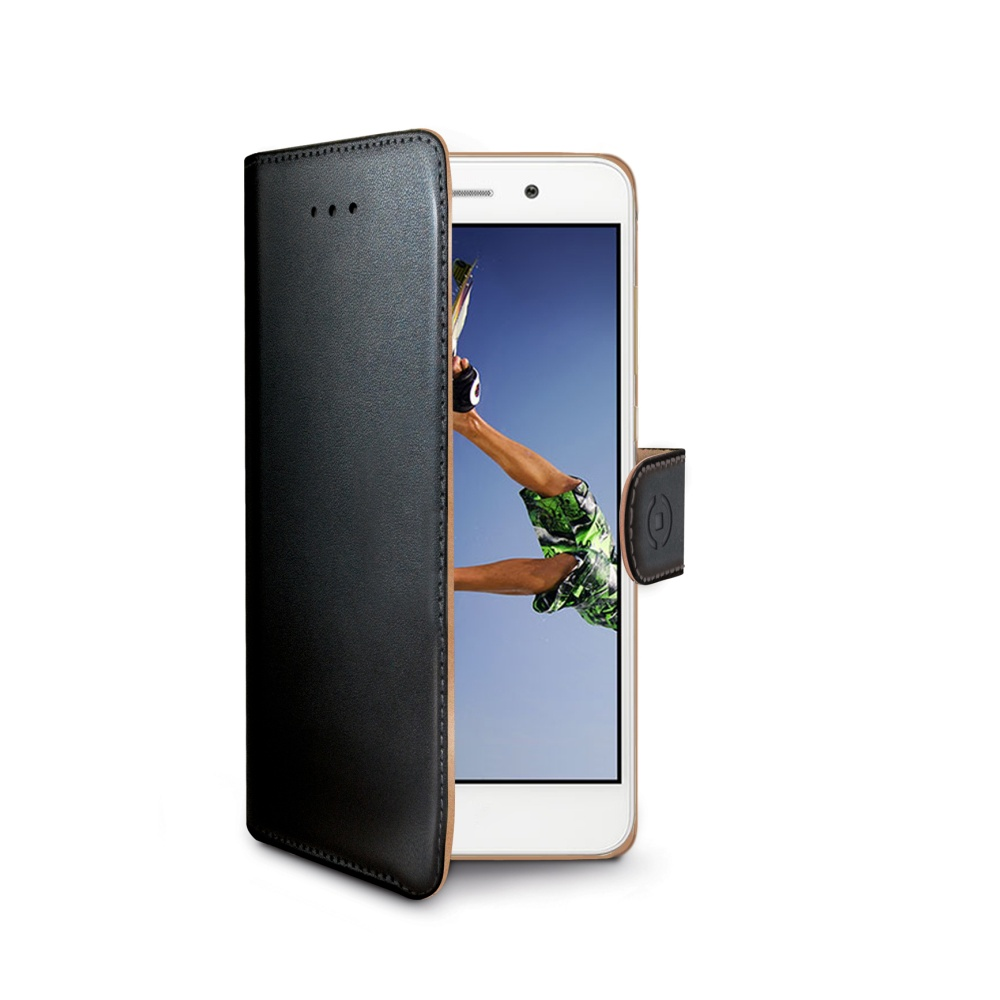 CELLY Wally flipové pouzdro Huawei Y6 II / Honor 5A černé