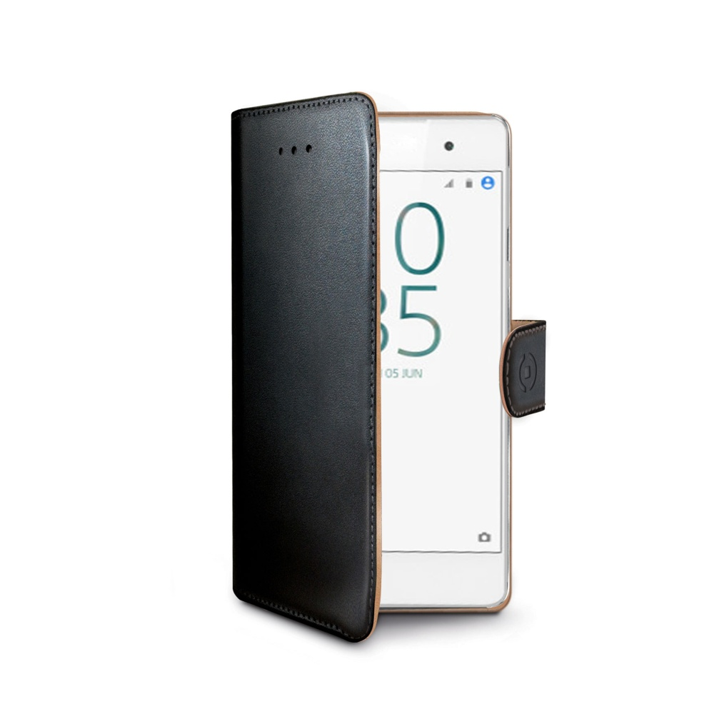 CELLY Wally flipové pouzdro Sony Xperia E5 černé