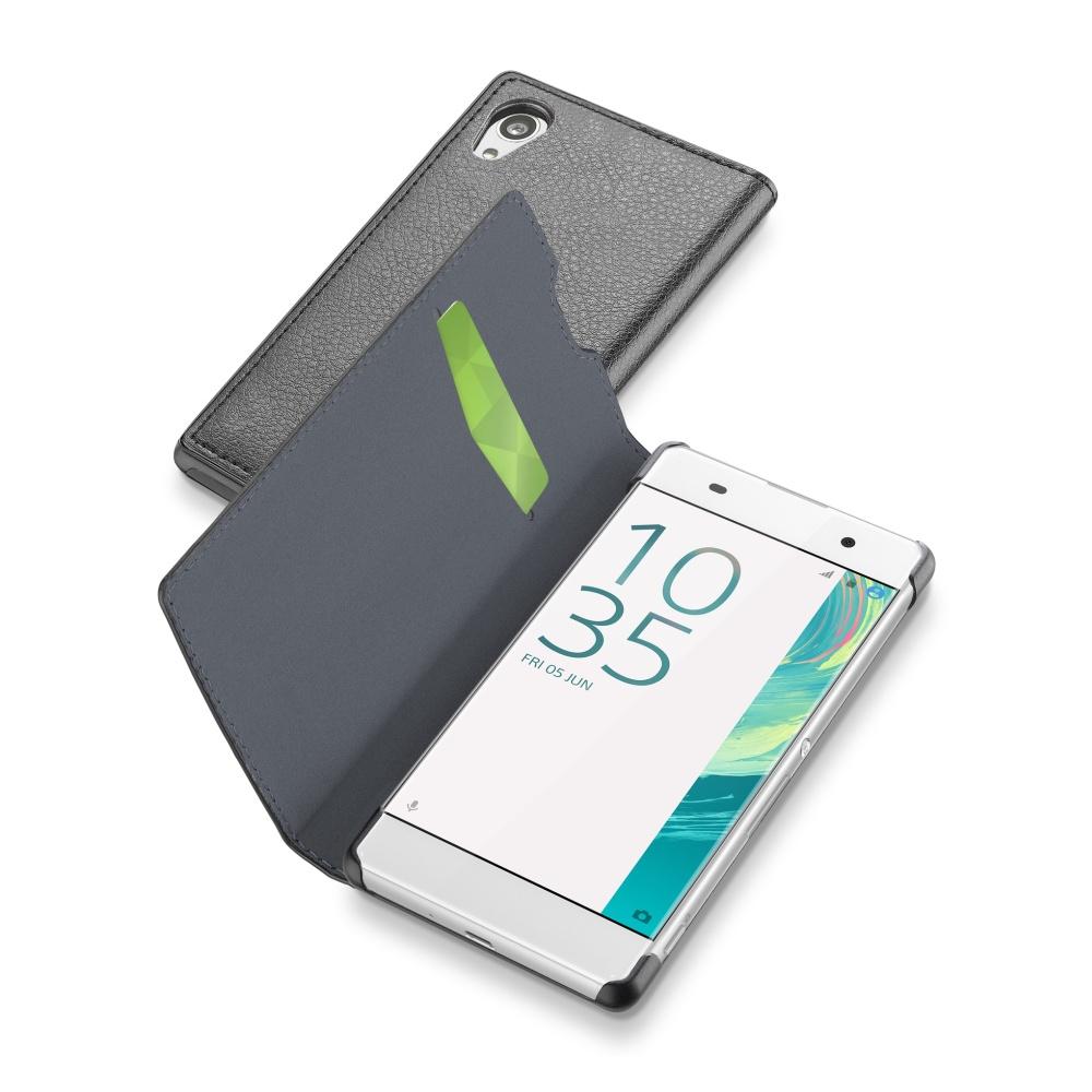 CellularLine Book Essential pouzdro flip SONY Xperia XA černé