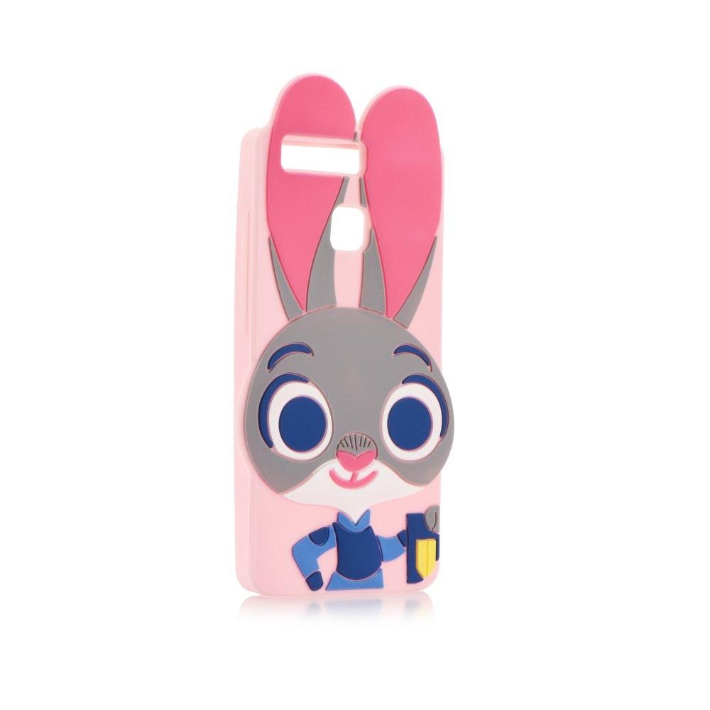 Pouzdro 3D pro Apple iPhone 5/5S/SE, růžový králík