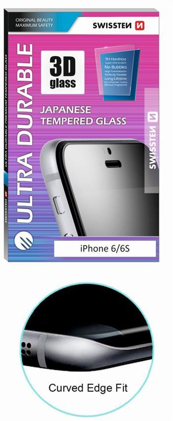 Tvrzené sklo SWISSTEN ULTRA DURABLE 3D Samsung Galaxy S6 Edge bílé