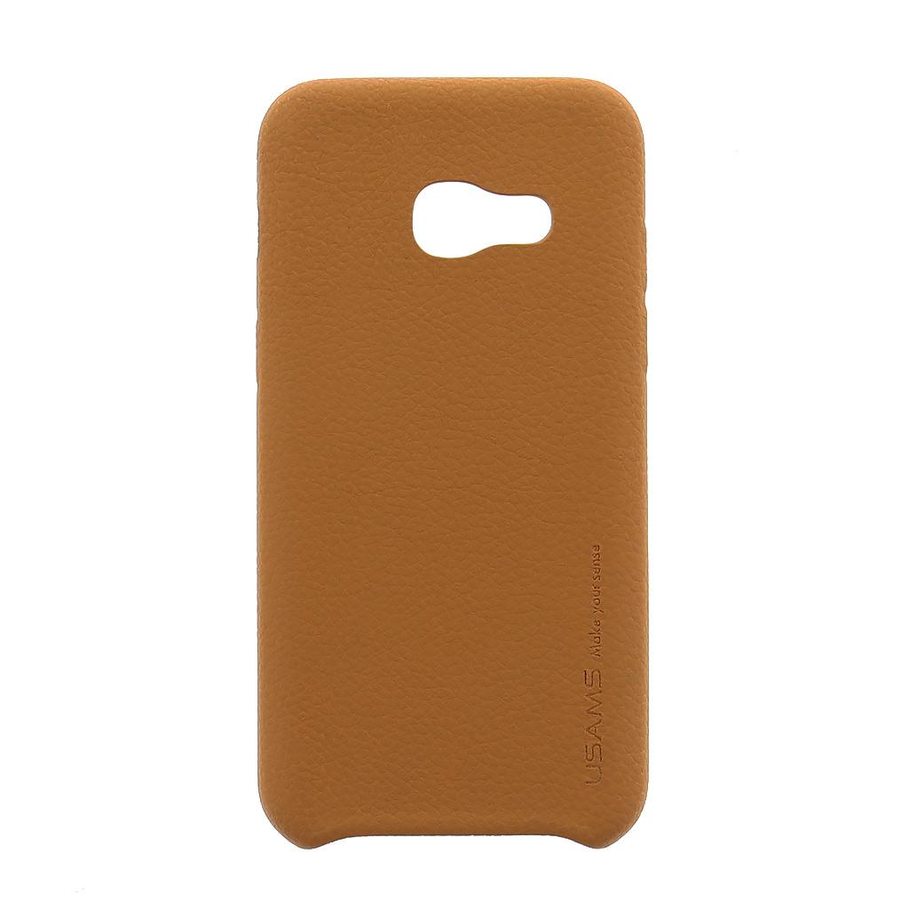 USAMS Joe Zadní Kožený Kryt Light Brown pro Samsung Galaxy A3 2017