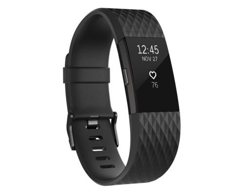 Fitness náramek Fitbit Charge 2 Black Gunmetal - Large