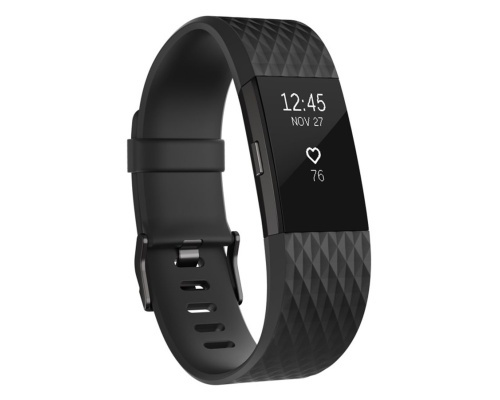 Fitness náramek Fitbit Charge 2 Black Gunmetal - Small