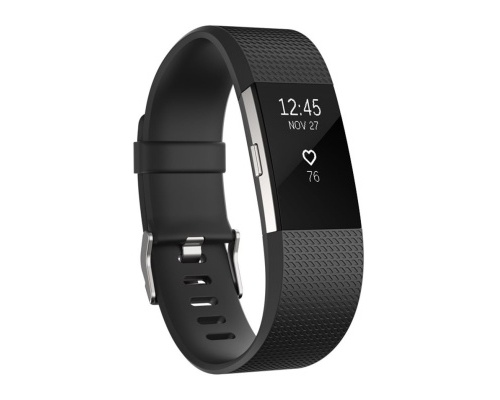 Fitness náramek Fitbit Charge 2 Black Silver - Small